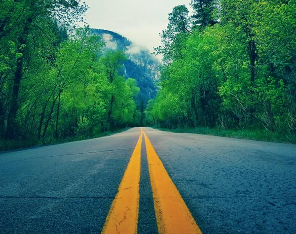 goal setting image of a road